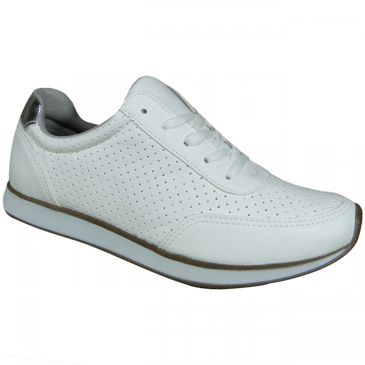 8502b18cfe Tenis Via Marte 16-12501 16-12501 - Branco Prata - Chuteira Nike ...