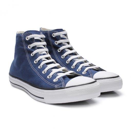 e4d1be4671480 Tênis Converse All Star Chuck Taylor Azul Cano Alto - - Sapato ...