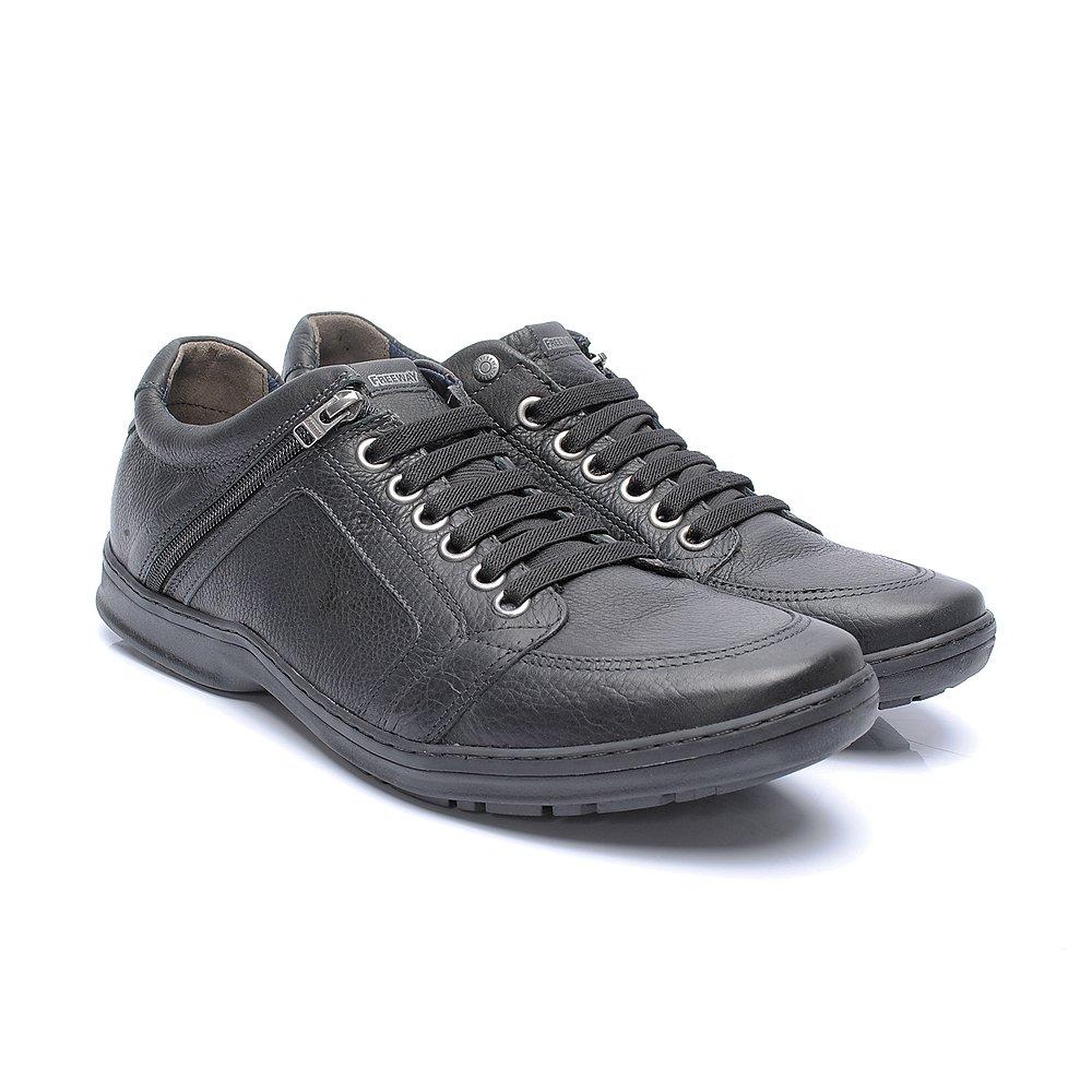 c553fdc3f Sapatênis Free Way Booster cor Preto - - Sapato Grande - Sapatos ...
