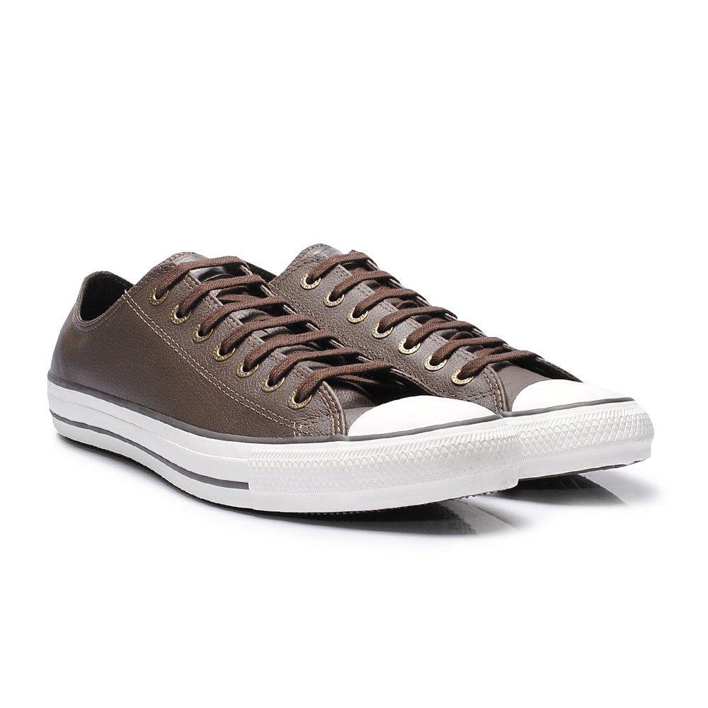 c428097f4b Tênis Converse All Star Chuck Taylor Chocolate Couro - - Sapato ...