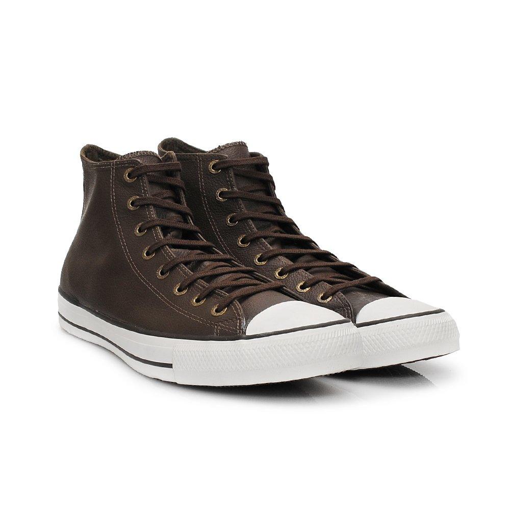 e8592e6c983 Tênis Converse All Star Chuck Taylor Chocolate Couro Cano Alto ...