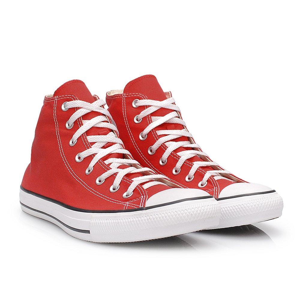 Tênis Converse All Star Chuck Taylor Vermelho Cano Alto - - Sapato ... cf735716fb835