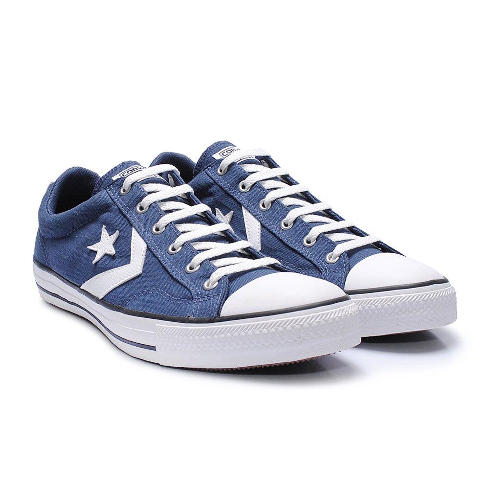 a752b0ef2d Tênis Converse Star Player Azul - - Sapato Grande - Sapatos ...