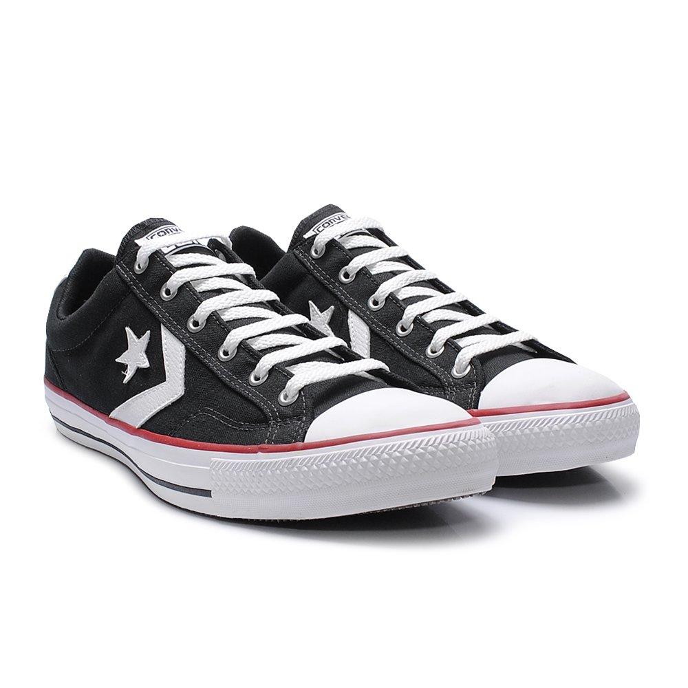 cc26e47a73 Tênis Converse Star Player Preto - - Sapato Grande - Sapatos ...