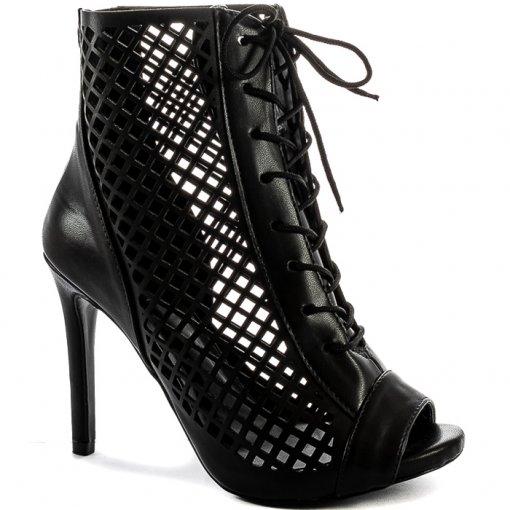 Ankle Boot Feminina Salto Fino Sapato Show 5803891