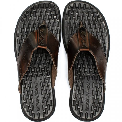Chinelo Masculino Couro Confortável Block West Coast 186322
