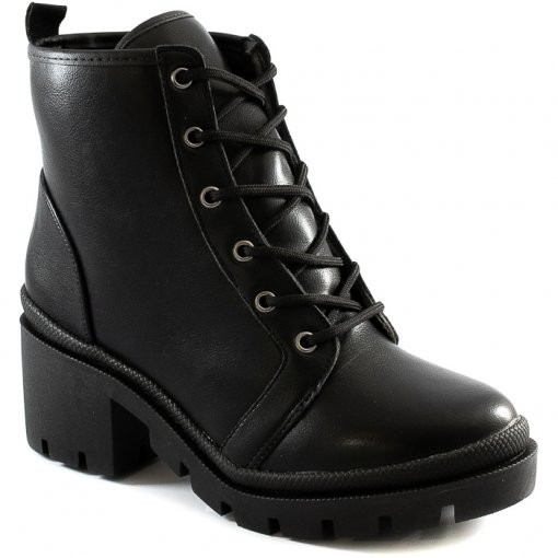 Coturno Tratorado Block Heel Inverno Sapato Show 1898002