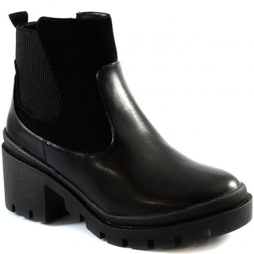 Coturno Tratorado Elástico Salto Bloco Sapato Show 1898003