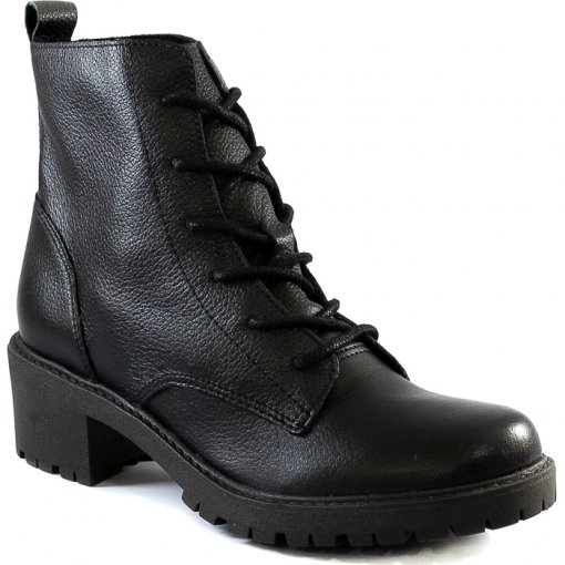 Coturno Tratorado Feminino Salto Bloco Sapato Show 54301