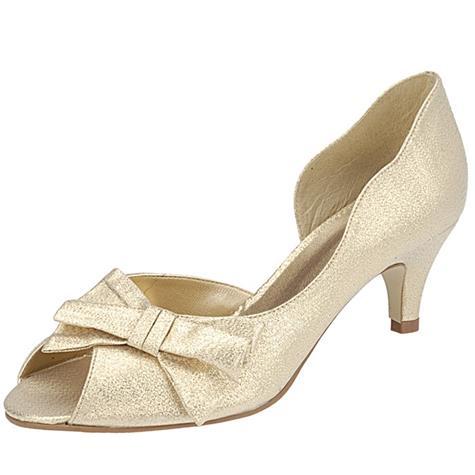 Peep Toe Belmon 6046 Ouro - 33 ao 43