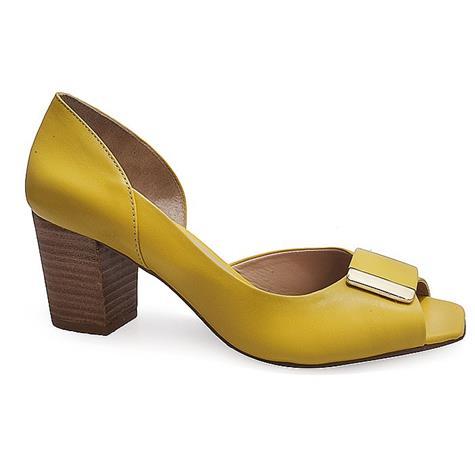 d351af63a9 Peep Toe Feminino Hiz 4281 - Amarelo