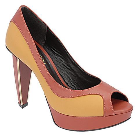 Peep Toe Feminino Ocre Belmon - 13117 - 33 a 43