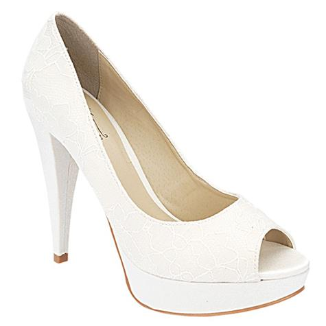 Peep Toe Feminino Off White Belmon - 13116 - 33 a 43