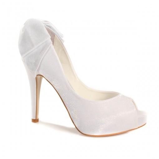 defca0f44 Peep Toe Laço Laura Porto Mh021 - Branco   Sapato Show