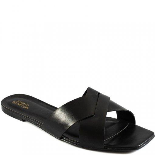 Rasteira Bico Quadrado Numeração Especial Sapato Show 06687