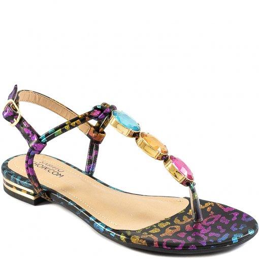 Rasteira Pedrarias Numeração Especial Sapato Show 1380922