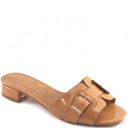 Tamanco Verniz Salto Baixo Sapato Show 53004848