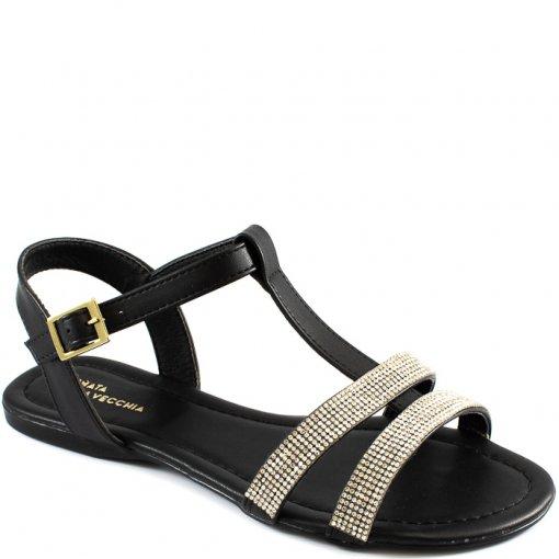 Rasteira T-Stripe Strass Número Grande Sapato Show 5023402