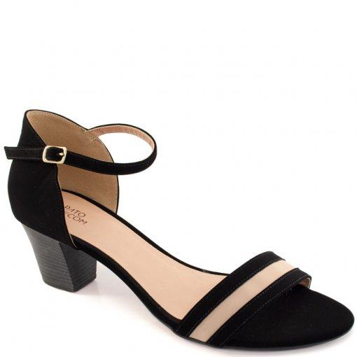 d8dedfaa1 Sandalia Nobuck Numeração Especial Sapato Show 11313e - Nobuck Preto ...