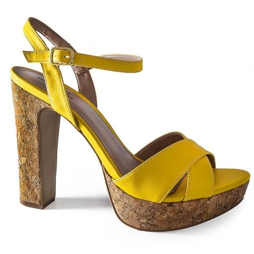 9d88d49bf4 Sandália Salto Grosso Numeração Especial Sapato Show -943115 ...