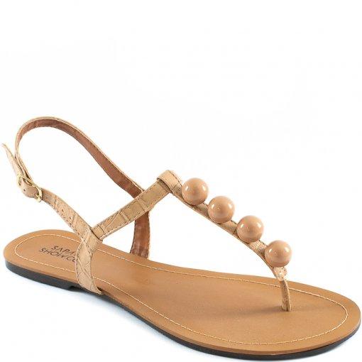 Sandália Rasteira Bolinhas Número Grande Sapato Show 12095