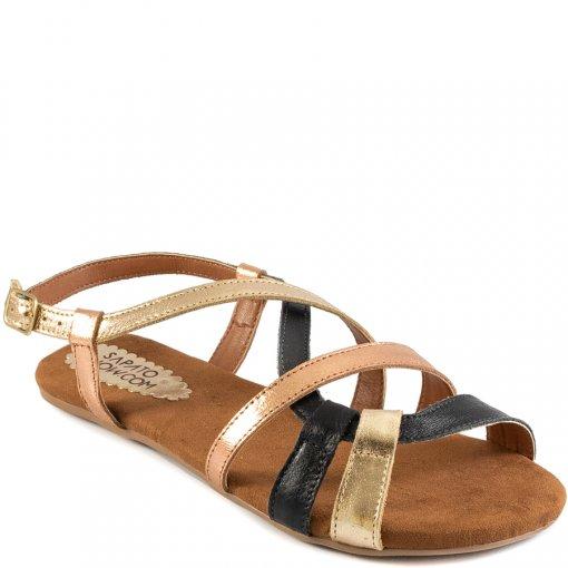 Sandália Rasteira Tiras Cruzadas Verão Sapato Show 28322