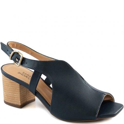 Sandália Slingback Open Boot Square Toe Sapato Show 1372707