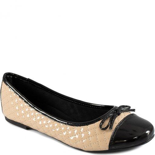 Sapatilha Envernizada Matelassê Com Laço Sapato Show 10230