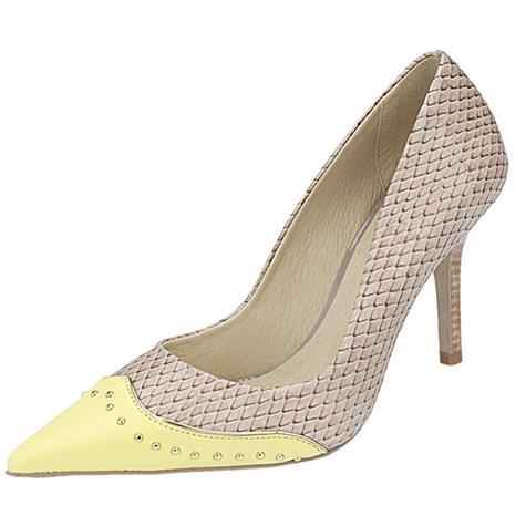 Sapato Bico Fino Belmon - 10205 Amarelo