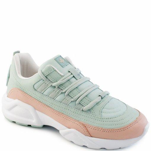 5a02c5ac03 Tênis Sneaker Feminino Chunky Cravo e Canela 156303 - Verde