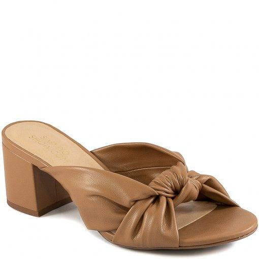 Tamanco Salto Bloco Com Nó Verão 2021 Sapato Show 46630