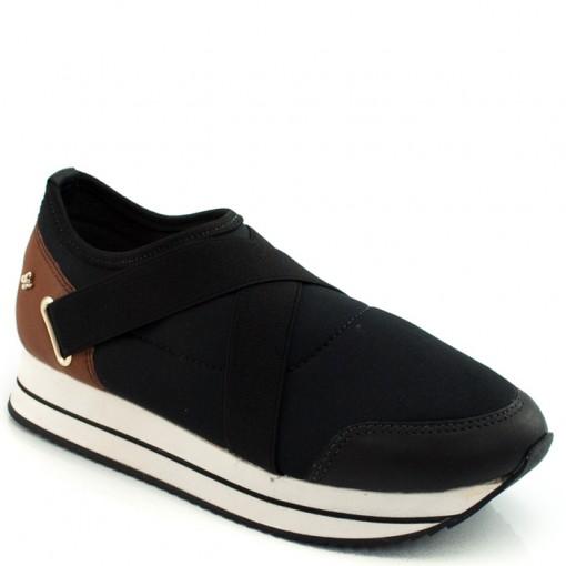 Tenis Sneaker Elástico Cravo e Canela 150701