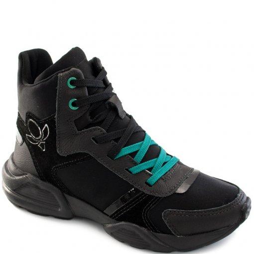 Tênis Dad Sneaker Cano Alto Chunky Cravo e Canela 156302