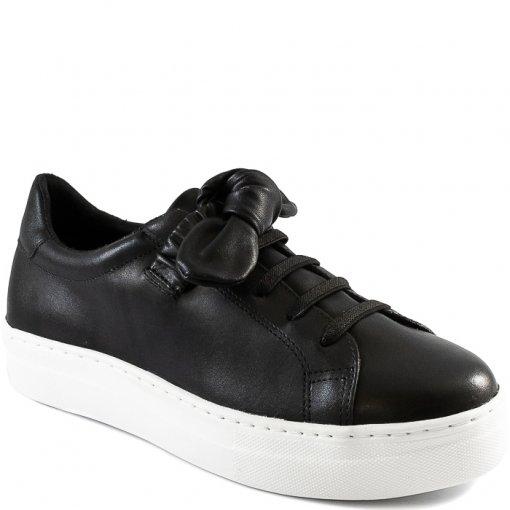 Tênis Feminino Confortável Couro Com Laço Sapato Show 32792