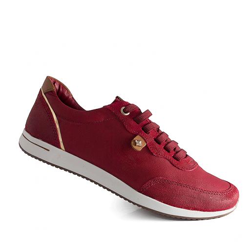 11018eaf7 Tênis Feminino Cravo e Canela - 97608 - Vermelho   Sapato Show
