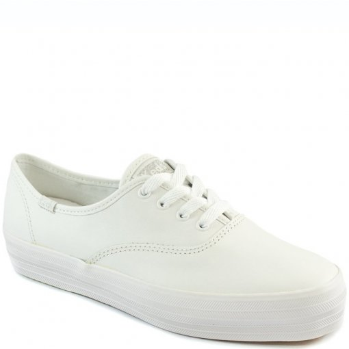 Tênis Flatform Keds Triple Leather