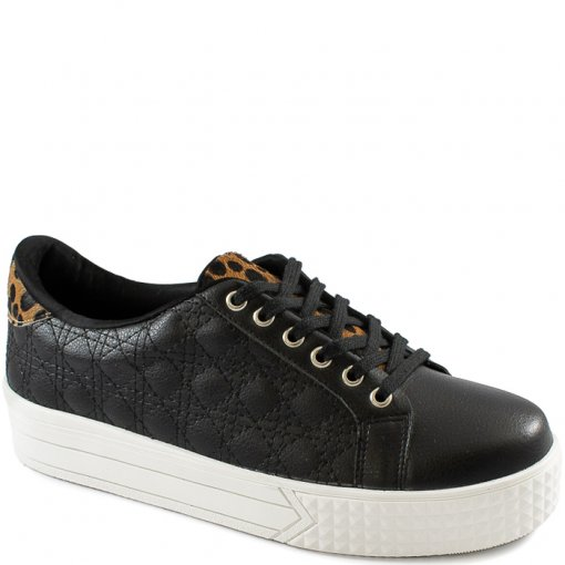 Tênis Matelassê Animal Print Número Grande Sapato Show 32505