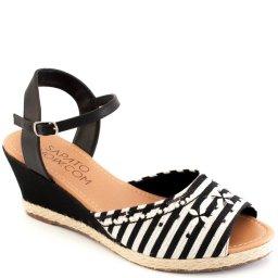 Anabela Bordada Numeração Especial Sapato Show 500147e