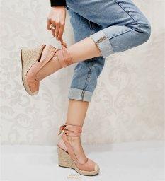Imagem do produto - Anabela Corda Lace Up Sapato Show 53902