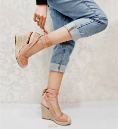 Anabela Corda Lace Up Sapato Show 53902
