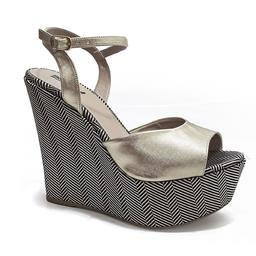 Anabela Estampa Chevron Sapato Show - 890214