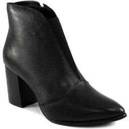 Ankle Boot Bico Fino Elástico Salto Bloco Sapato Show 340992