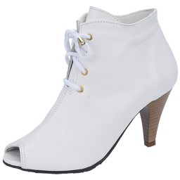 Ankle Boot Feminina Heinze - 1058 Off White-09