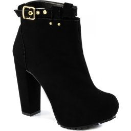 Ankle Boot Lita Tratorada Com Fivela Sapato Show 1120337