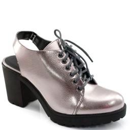 Ankle Boot Metalizada e Tratorada Offline 20501
