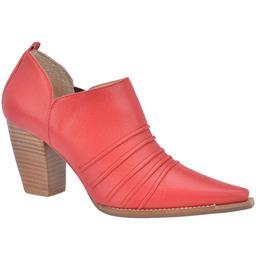 Ankle Boot Plissado Belmon - 9717 - Vermelho
