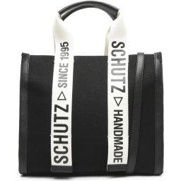 Bolsa Mini Tote Livia Lona E Couro Schutz Handmade S500100231