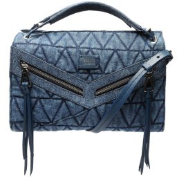 Bolsa Mini Tote Suri Spikes Triangle Denim Schutz S500181392