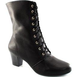 Bota Cano Médio Cadarço Numeração Grande Sapato Show 1130048e