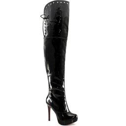 Bota Over Boot Verniz Numeração Grande Sapato Show 740068e